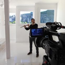 Julián Elvira en las Casas Colgadas Cuenca
